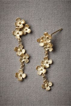 Falling Flowers Earrings in SHOP Sale at BHLDN these remind me of a favorite pair found in Malta