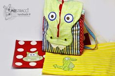 More Mostracci inspiration - fun dragon backpack and appliques :)