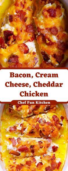 Bacon, Cream Cheese, Cheddar Chicken
