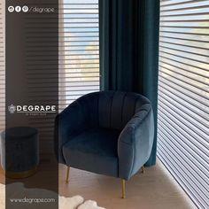 Yaşam alanlarınızın köşelerini 2020'ye damga vuran kumaşlarımız ile gelin beraber renklendirelim. . #evdekorasyonu #degrape #kumaş #perde #izmir #alsancak #interior #istanbul #curtain #upholstery #textile #design #interiordesign #elegant Tub Chair, Istanbul, Accent Chairs, Elegant, Furniture, Home Decor, Upholstered Chairs, Classy, Decoration Home