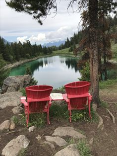 the famous red chairs of canada s national parks whistlers