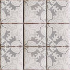 Simply elegant terracotta tile, oxford & gray on off white. Get it at World Mosaic Tile in Vancouver http://www.worldmosaictile.com/tabarka-handmade-terra-cotta-tiles/