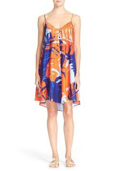 Palm Print Crepe Dress