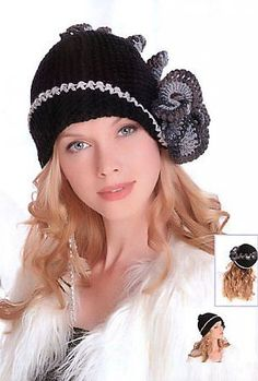"""Hat """"Parisienne"""" """"Knitting, knitting, crochet, crochet diagrams, embroidery, macramé, beading - all this on our website"""