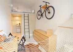 Szymon Hanczar crams his entire city home into 13 square metres
