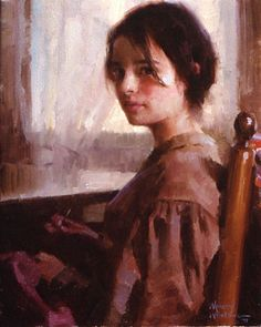 Seamstress -- by Morgan Weistling (1964-- American)