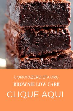 Brownie Low Carb, Brownie Sem Gluten, Healthy Low Carb Recipes, Low Carb Keto, Keto Recipes, Keto Diet Plan, Ketogenic Diet, Diets For Beginners, Canal E