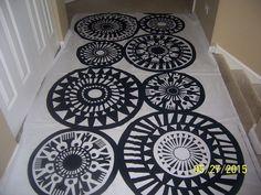 "Marimekko Fabric - ""TAIKAMYLLY"" - Black/White - 90"" x 56"" - Rare Fabric Sale #Marimekko"