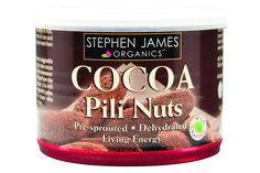 Cocoa Pilis are volcanic Pili nuts coated in organic raw cacao and organic Carazuc (coconut flower sugar). Pre-sprouted Pili nuts are coated in the sweet coconut sap and rolled in raw cacao, and then dehydrated at low temperatures to ensure that the enzymes remain intact and the oils balanced... read more!
