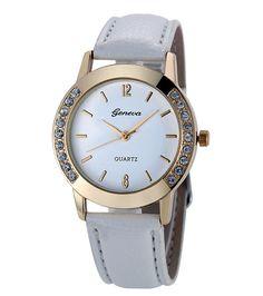 3999d389504ba Women's watch Lys white Geneva - Montre femme bracelet blanc Lys Geneva  #watch #montre