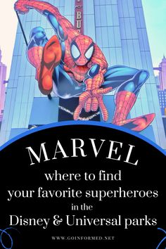 Meet your favorite Marvel superheroes, and live the adventure at the Disney and Universal theme parks. Find out which parks feature which characters and what thrills are coming soon to Disney World. Learn more at GoInformed.net/68 Disney World Tips And Tricks, Disney Tips, Attractions In Orlando, Disney World Packing, Universal Parks, Orlando Theme Parks, Disneyland Tips, Disney Planning, Amazing Adventures