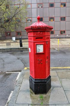 Penfold Post Box - St. Pancras Way, London, NW1. http://www.artstreetlife.co.uk/2014/04/penfold-pillar-boxes.html