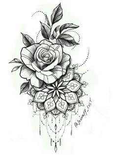 tattoos on black women \ tattoos for women ; tattoos for women small ; tattoos for moms with kids ; tattoos for guys ; tattoos for women meaningful ; tattoos with meaning ; tattoos for daughters ; tattoos on black women Rose Tattoos, Leg Tattoos, Body Art Tattoos, Sleeve Tattoos, Small Tattoos, Pink Tattoos, Clock Tattoos, Tatoos, Mandala Flower Tattoos