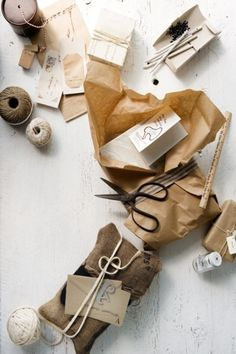 Glen Proebstel- a collection of natural items for creative gift wrapping