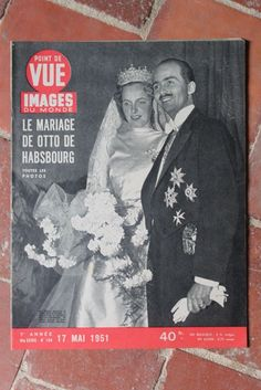Point de Vue N ° 154 1951 MARIAGE Otto de Habsbourg-Lorraine COMPAGNONS DU Kon-Tiki MODE fr.picclick.com