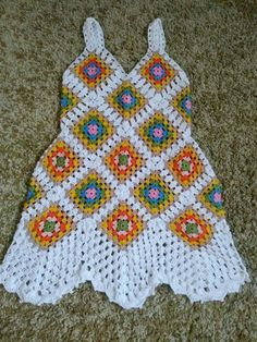Crochet Tunic, Crochet Jacket, Crochet Motif, Diy Crochet, Crochet Clothes, Crochet Baby, Baby Knitting Patterns, Crochet Patterns, Crochet Summer Dresses