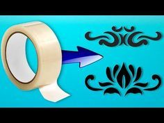 Stencil of adhesive tape for decoration How To Make Stencils, Stencil Templates, Duct Tape, Adhesive, Stationery, Make It Yourself, Youtube, Crafts, Decoration
