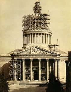 by Charles Marville - construction du pantheon