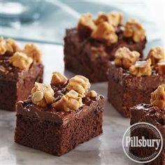 Salted Caramel Peanut Candy Bar Brownies from Pillsbury® Baking