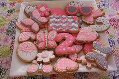 pink girl cookies