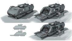 Sci fi_armored vehicle by Taegaconcept - Tae won jun - CGHUB Spaceship Concept, Concept Cars, Game Concept, Army Vehicles, Armored Vehicles, Armadura Sci Fi, Space Engineers, Futuristic Cars, Futuristic Vehicles