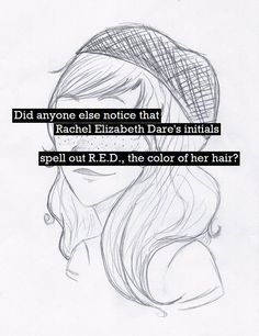I noticed that when I read the last Olympian for the first time << I should be Rachel for halloween. I have red hair and I'm an artist :D Percy Jackson Books, Percy Jackson Fandom, Solangelo, Percabeth, Percy And Annabeth, Annabeth Chase, Rachel Elizabeth Dare, The Last Olympian, Team Leo