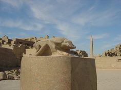 Luxor, Egypt, Karnak Temple, 1290 BC sacred scarab beetle