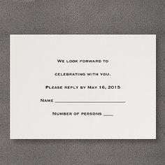 Ecru Respond Card and Envelope
