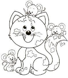 desenhos para colorir gatos