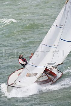 The Folkboat 'Strider' in a stiff breeze in the Solent Date taken: File id: 9181 Sailboat Yacht, Sailing Yachts, Sailing Pictures, Yacht Cruises, Classic Sailing, Sailing Regatta, Striders, Sail Away, Tall Ships