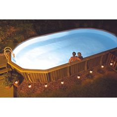 Create a soft, warm glow in your pool with this 50-watt above-ground pool light from NiteLighter. This light comes with hardware and is designed for use on rigid-wall pools, where the bright bulb makes it safe to swim at any hour of the night.