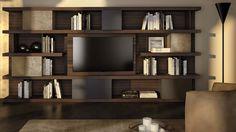 Kubika Natuzzi Italia modular wall Bookshelves, Bookcase, Tv Cabinet Design, Night And Day Furniture, Modular Walls, Shelving, Interior Design, Room, Home Decor