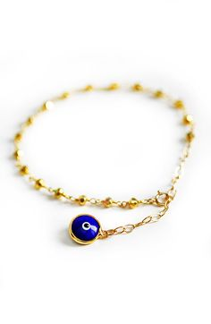 EVIL EYE bracelet by keijewelry on Etsy, $28.00