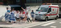 """Voluntarios/as de Cruz Roja #Gernika cubriendo """"Acción contra el Hambre"""" de San Fidel Ikastola."""