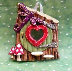 Dragonfly Fairy Door by Christine Salt of the Earth, via Flickr