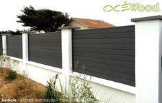 Clôture de jardin en panneaux composites Boréale par Ocewood ...