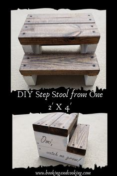 DIY simple kid's step stool from one board! Easy rustic farmhouse step stool built from one Get the instructions here! DIY simple kid's step stool from one board! Easy rustic farmhouse step stool built from one Get the instructions here! Diy Wooden Projects, Wood Projects For Kids, Wood Projects For Beginners, Diy Furniture Plans Wood Projects, Easy Woodworking Projects, Popular Woodworking, Woodworking Furniture, Woodworking Kits, Woodworking Jointer