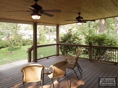 sloped roof covered deck