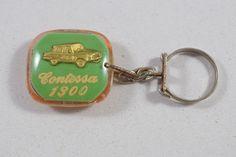 Vintage CONTESSA 1300 Automobile Car Emblem Israel Key-chain Key Holder 60's