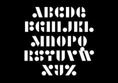 GLUE, a new FONT releases from Alias  |  Its limited modular structure means that shape arrangements are recycled, with an X flipped to make a Z, or an A flipped to make a 7.