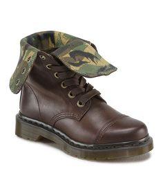 Another great find on #zulily! Dark Brown Aimilita Leather Boot #zulilyfinds