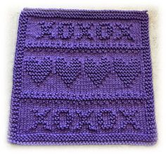 Ravelry is a community site, an organizational tool, and a yarn & pattern database for knitters and crocheters. Knitted Squares Pattern, Knitted Dishcloth Patterns Free, Knitting Squares, Knitted Washcloths, Beginner Knitting Patterns, Knit Dishcloth, Knitting Stitches, Knitting Yarn, Knitting Projects