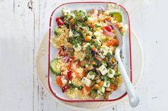 8 april - Witte kaasblokjes in olie in de bonus - Lekker vega: couscous vol groenten, de kaasblokjes maken het af - Recept - Allerhande