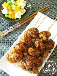 Nasi Lemak Lover: Teriyaki chicken meat balls