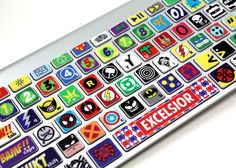finally, a set of comic themed keyboard stickers for all comic geeks out there. made by Killer Duck Decals, the Comic Keyboard Stickers for MacBook goes for just Geeks, Captain Marvel, Marvel Dc, Marvel Comics, Marvel Heroes, Geek House, Be My Hero, Geek Home Decor, Fandoms