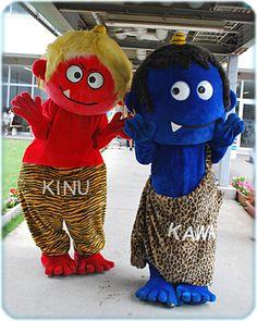 赤鬼KINUちゃん&青鬼KAWAちゃん(日光市)