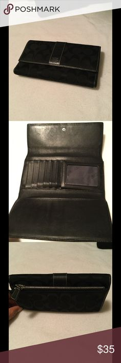 Coach black wallet Coach good condition wallet . Have a lots of room to fit your needs . One extra packets on the back . Coach Other