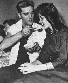Elvis and Priscilla.