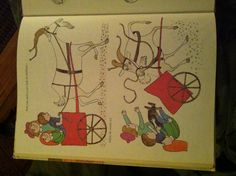 """Goat carts in literature! From """"Our Animal Friends at Maple Hill Farm,"""" by Alice & Marvin Provensen."""