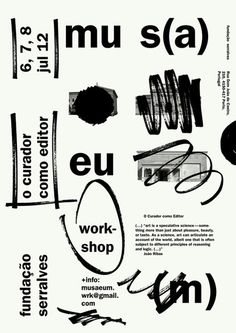 Nice poster in black and white #graphicdesign #blackandwhite